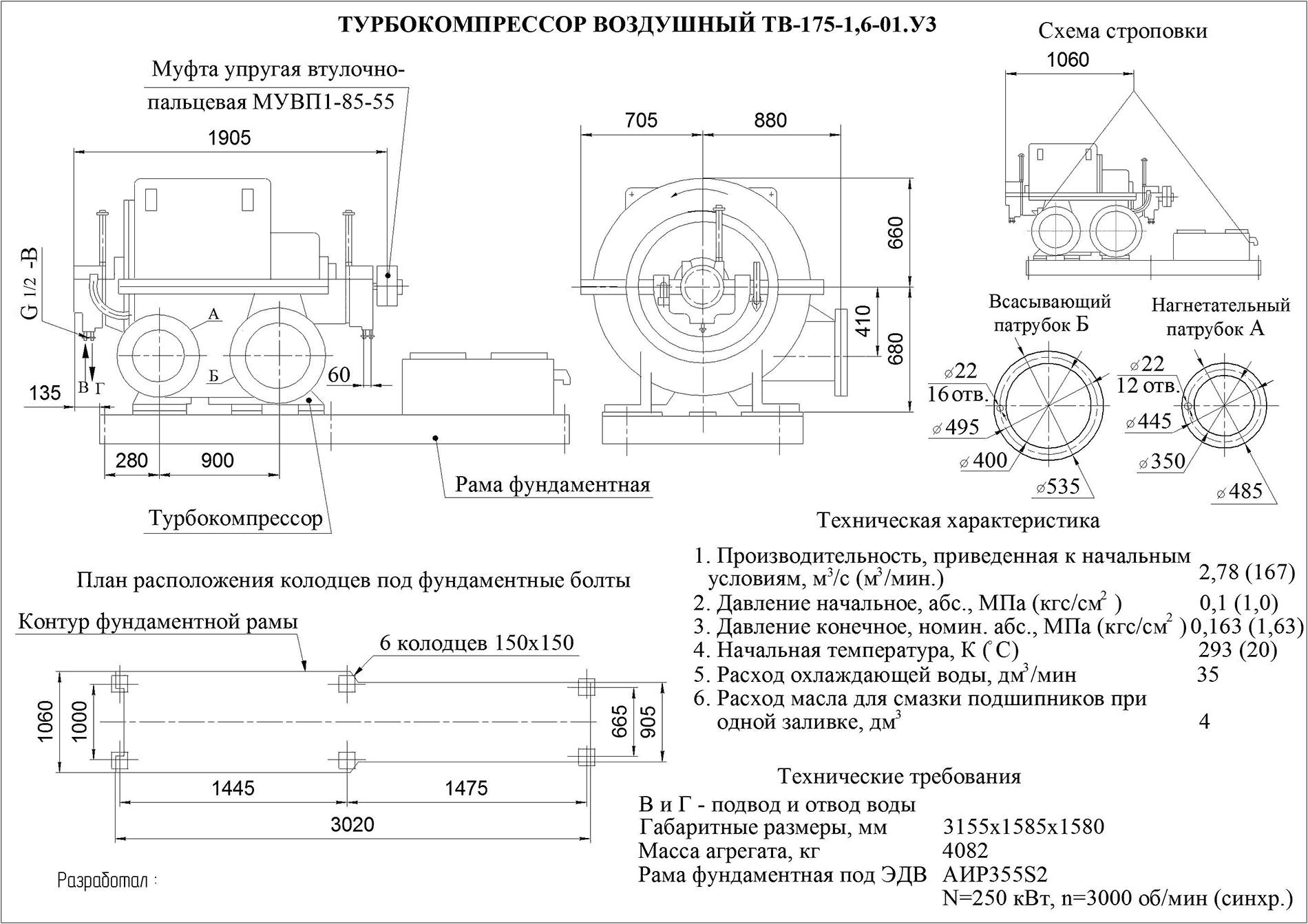 Техническое описание ТВ-175-1,6