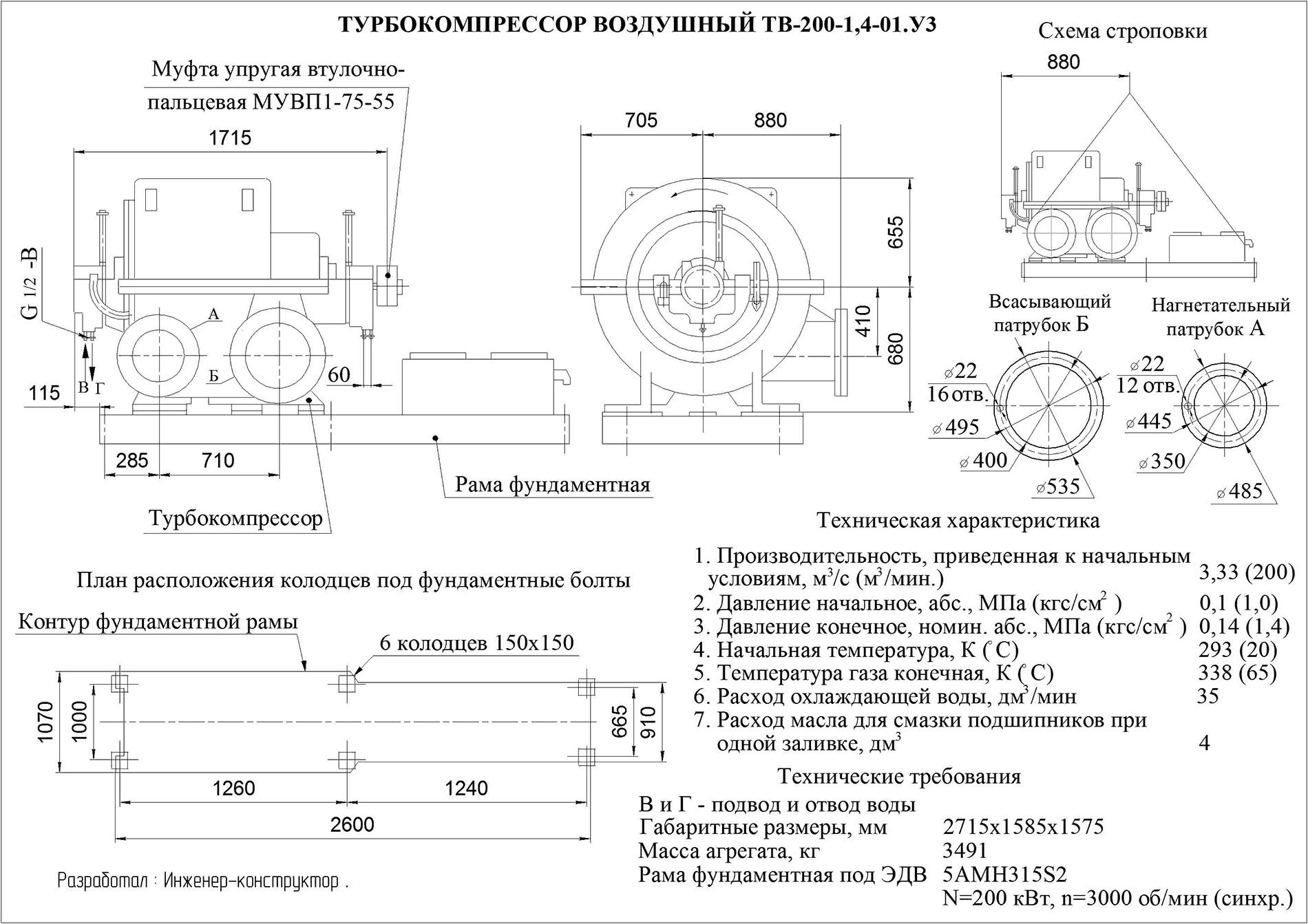 Техническое описание ТВ-200-1,4-01У3
